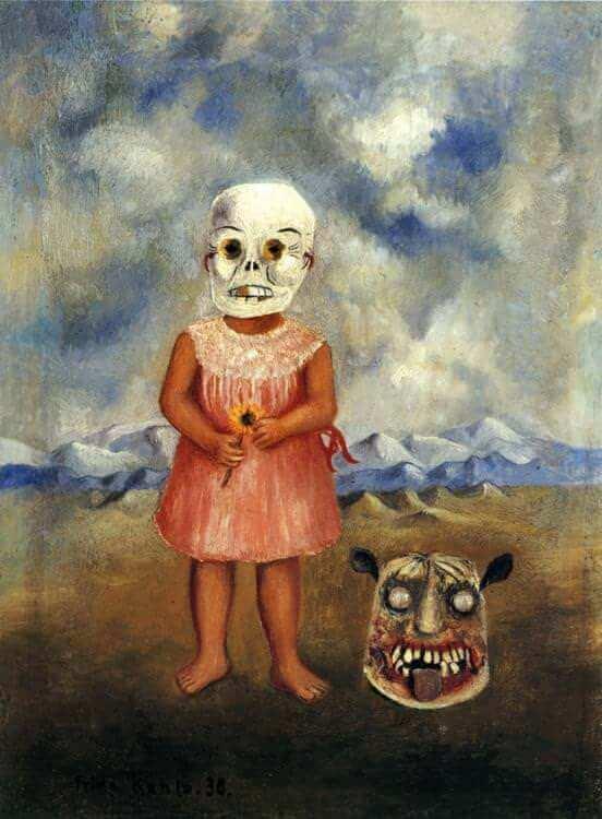 Frida Kahlo Girl with Death Mask, 1938 .jpg